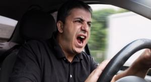 Stressed Man Driving